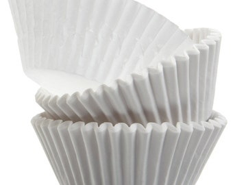 White Cupcake Liners - 50 Count *FREE SHIPPING*
