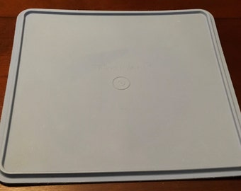 """Vintage Tupperware Square Replacement Seal Lid  Cover 12 """" Blue Or Aqua Fits 166 Base You Choose Color"""