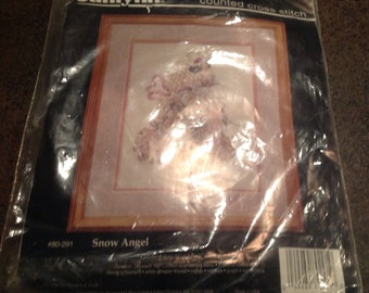 Janlynn Counted Cross Stitch Kit 80-291 Snow Angel Design Stoney Creek Christmas Holiday