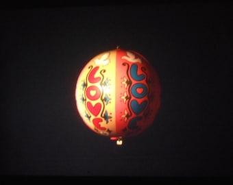Vintage 35mm Photo Slide Abstract Balloon Hippie Love