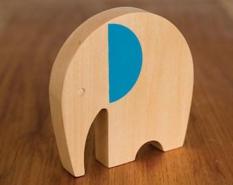 Simon the Elephant Wooden Toy / Child's Nursery / Baby Shower Gift / Stocking Stuffer
