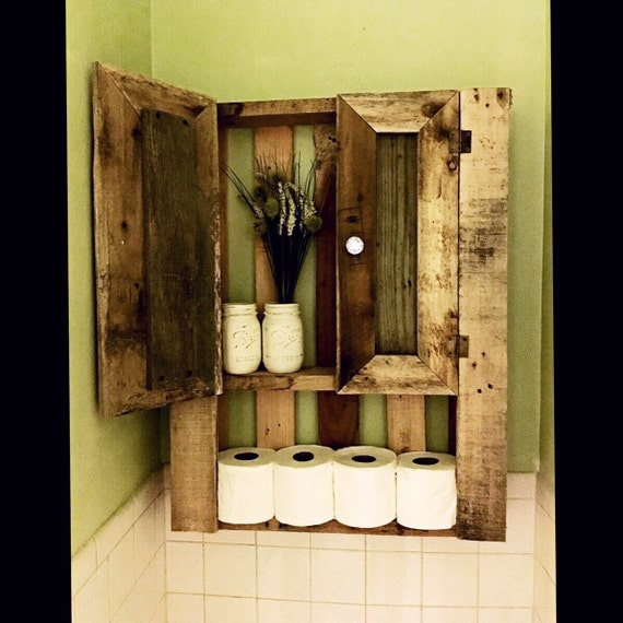 Elegant Bathroom Storage Reclaimed Military Wood Cabinet Furniture Reserved F