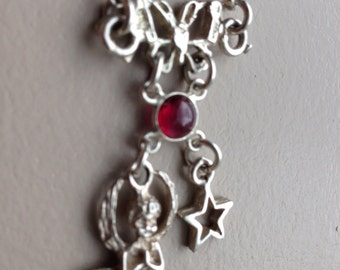 """Sterling Silver Charm Necklace 16"""""""