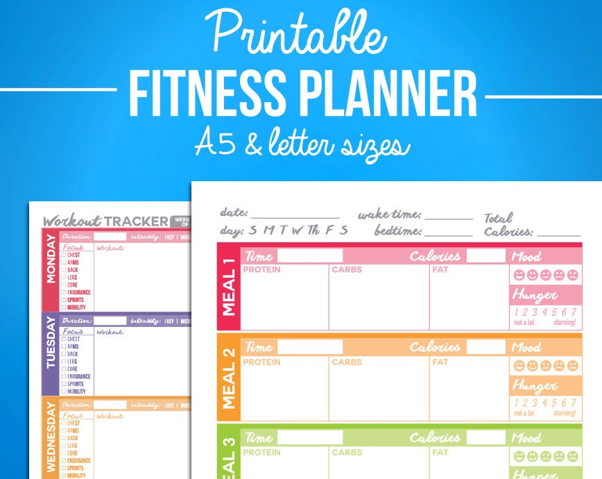 Printable weight loss diaries