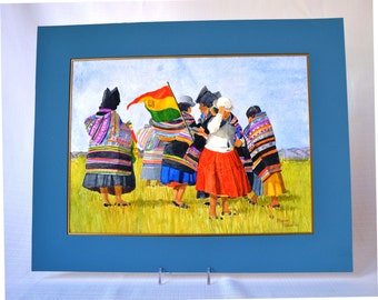 Bolivian Women & the Flag