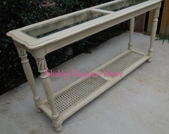 Entry-Sofa Table Painted Furniture in Linen/Cream for local pick-up only