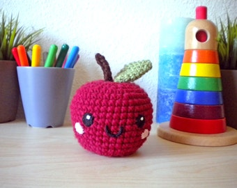 Crochet Apple Stuffed Toy