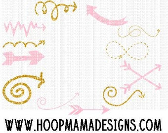 12 Arrows SVG DXF EPS and png Files for Cutting Machines Cameo or Cricut