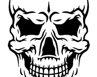 Skull face DXF file for CNC plasma, router, waterjet, or laser
