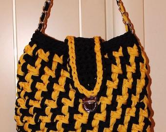Crochet bag strap