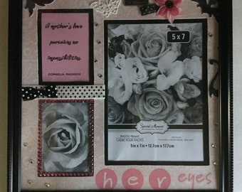 A Mothers Love Scrapbook-style Picture Frame