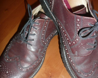 Vintage Gallus Liberty brown mens shoes real leather shoes size 10 made in Germany