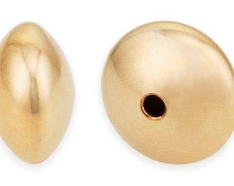 5 Pcs 4.5X2.5 mm 14K Gold Filled Saucer Beads (GF520202)