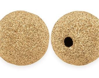100 Pcs 2 mm 14K Gold Filled Stardust Beads (GF520402)