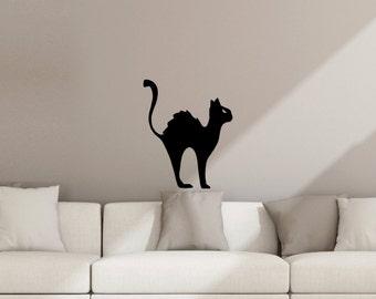 Black Cat Halloween Wall Decal Sticker Decoration