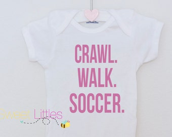 Soccer/Sports Fan Onesie/Baby Bodysuit/Soccer/Funny/Cute/Custom/Babyshower/baby gift/Custom/Dance/Skate/Hockey/Football/Tennis/Gymnastics
