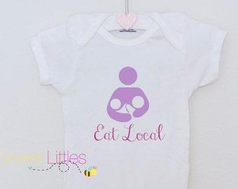 Tandem Nursing Onesie/ Breastfeeding Symbol/ Baby clothes/ Newborn/