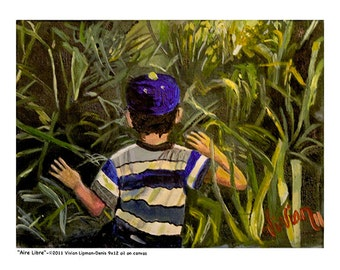 "Puerto Rican Art Poster - ""Aire Libre"""