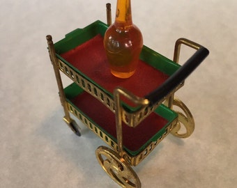 Ideal Petite Princess Rolling Tea/Wine Cart-1960's Dollhouse Furniture