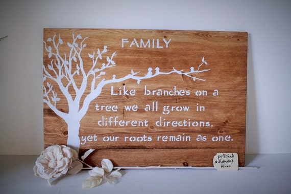 Wooden Wall Art Family Like Branches On A Tree Family