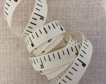 Tape Measure Grosgrain Ribbon