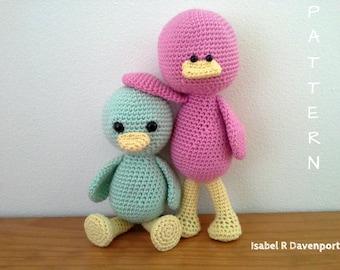 2 PATTERNs Crochet Twin Ducks, Crochet Ducks Pattern, PDF format,         2 Ducks Pattern