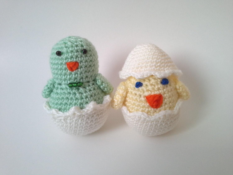 Amigurumi Hatching Easter Chicks : Easter Chicks Crochet Chicks Amigurumi Easter Eggs Crochet