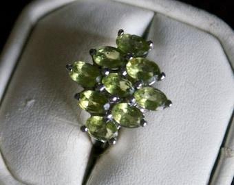 Stunning Peridot Silver Ring