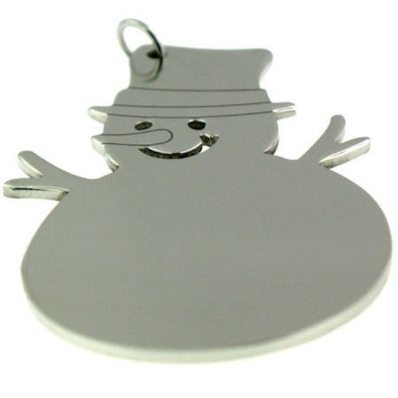 Snowmen ornaments stainless steel blank stampable