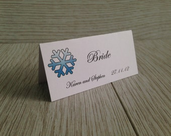 Christmas Snowflake Place Cards