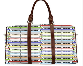 Monorail Inspired Overnight Bag MADE TO ORDER (4 week processing time)
