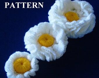 Flower Crochet Pattern Flower Crochet Flowers Pattern Flower Crochet Patterns Crochet Flowers Easy crochet Patterns Olga Andrew Designs 034
