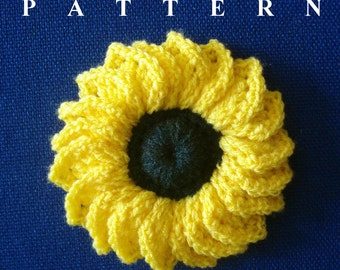Sunflower Crochet Pattern Sunflower Pattern Crochet Flower Patterns Sunflower Crochet Flowers Easy crochet Patterns Olga Andrew Designs 026