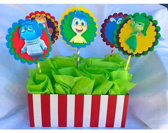 Inside Out Centerpiece, Birthday Party Centerpiece, Candy Station Picks
