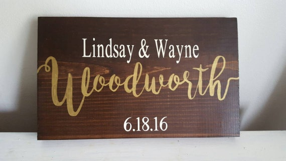 Wedding Sign, Wedding Couple Sign, Bride and Groom Sign, Family Name Sign, Wedding Sign Gift, Last Name Sign, Wedding Memento