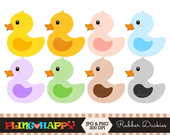 70% OFF Color Rubber Duckies Clipart, Cute Color Owl Clipart Graphics, Personal & Small Commercial Use, Instant Download