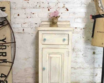 Painted Cottage Prairie Chic Chippy Hand Made Farmhouse Cabinet PR183