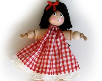Children's Cotton Reel Doll Kit, Kid's Craft Kit, Bobbin, Spool Doll Kit