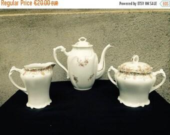 SUMMER SALE Coffee Set//Coffee Service//Porcelain Coffee Set///Gilded Porcelain/French Coffee Set//Gilded Coffee Set//Tea Service//Found And