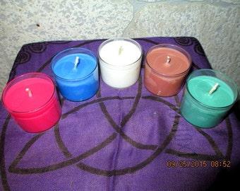 Altar Candle Set - Elemental Candles - Wicca Altar Candle Set - Ritual Candle Set - Altar Candles - Elemental Candle Set - Witch Candles