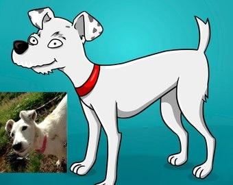 Custom Simponized Pet Portrait