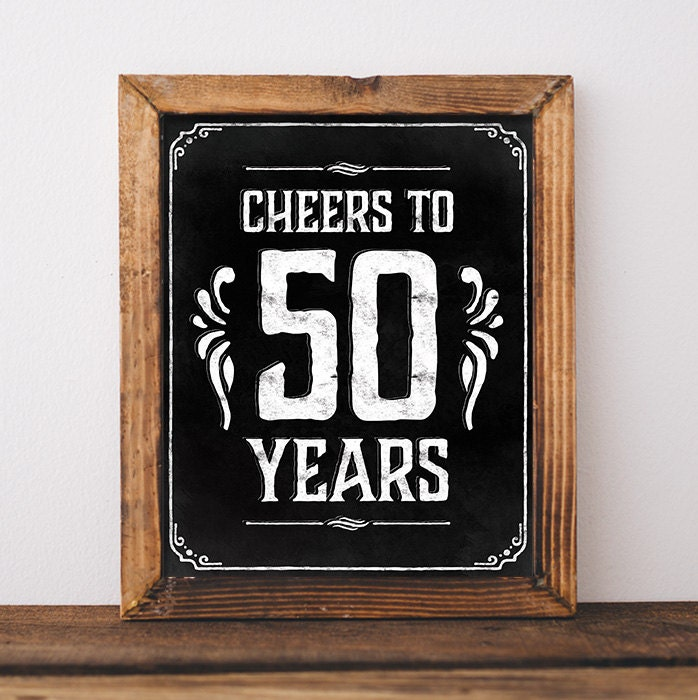 Hilaire image intended for 50th birthday signs printable