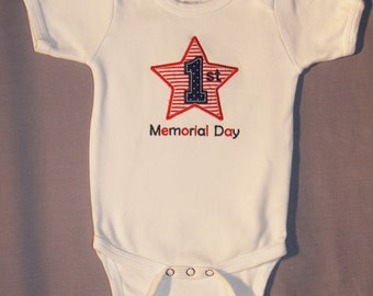 1st Memorial Day Onesie, Baby Bodysuit