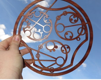 Custom Gallifreyan wood sign with your Name - Inspired by Doctor Who