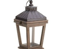 Rustic Bungalow Candle Lantern (Set of 2) Centerpieces, Candle Holder