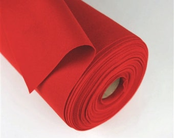 One yard Red 100% Merino Wool Felt