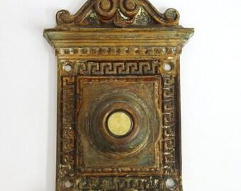Antique Brass Romanesque Doorbell