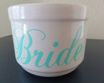 Bride- personalized cup ( bridal shower, gift for bride, engagement gift, wedding, photo prop)