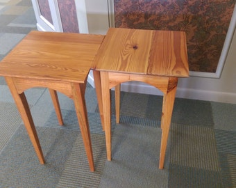 Reclaimed Series- Heart Pine End Tables (Set 0f 2)
