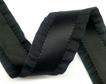 "1.5"" Double Ruffle Ribbon 5 yard Reel (100% Polyester)"